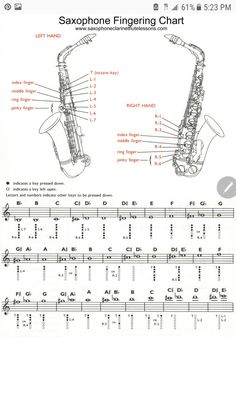 Saxophone Notes, Best Saxophone, Saxophone Music, Tenor Sax, Alto Sax Sheet Music, Violin Sheet Music, Alto Saxophone Fingering Chart, Music Theory, Saxophones