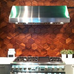 the wood hex tiles by jamie beckwith are everything!