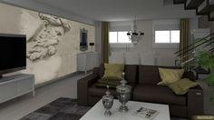 Imagen 3D de salón-comedor para proyecto de diseño de cambio de look