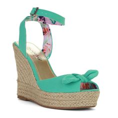 Twisted Women's Kenzie Solid Canvas Braided Espadrille Wedge -- For more information, visit image link.