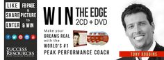 Success Resources Uk are offering the CD and DVD pack of The Edge by Tony Robbins. To enter just like their Facebook page and share their cover photo!