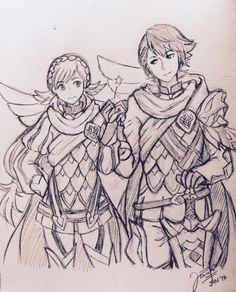 Sharena and Alfonse Fire Emblem Heroes