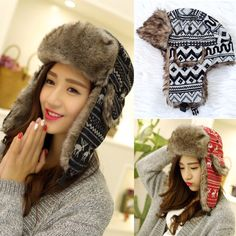 b222c6b4af59d faux fur winter bomber earflap hat - Mercari  BUY   SELL THINGS YOU LOVE  Sell