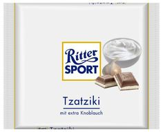 RITTER SPORT Fake Schokolade Tzatziki Cool Pictures, Funny Pictures, Chibi Food, Trick R Treat, Tzatziki, Sports Humor, Haha, Jokes, Entertaining