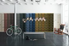 Random bookshelf designed by Neuland Industriedesign for MDF Italia is made of 6 mm thick mediumdensity wood fibreboards Narrow Bookshelf, Modern Bookshelf, Bookshelf Design, Bookcase Storage, Bookshelves, Storage Units, Fairmont Pacific Rim, Lounge Chair Design, Small Spaces