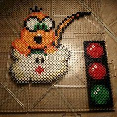 Lakitu Mario Kart perler beads by perler_train