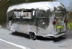 """""""Airstream"""" - Original Fine Art for Sale - © David Lloyd. I was the lucky winner of this painting!"""