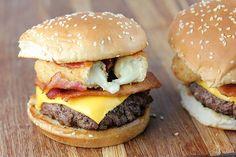 Burger with Mozzarella Sticks