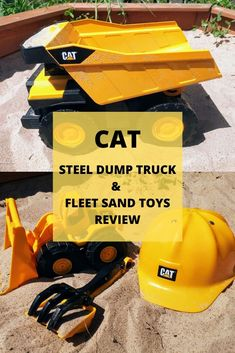 CAT Steel Dump Truck & Fleet Sand Toys Review  These have been a huge hit with both my kids aged 4 and almost 9 - check out our review Best Christmas Toys, Christmas Gifts For Boys, Steam Activities, Activities For Kids, Sand Toys, Dump Truck, Toys For Boys, Parenting, Trucks