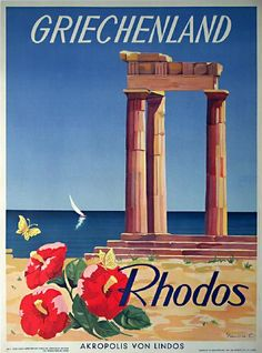 Rhodes, 1949 travel poster