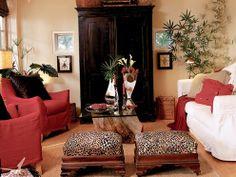 looks kinda like my living room - tropical chic