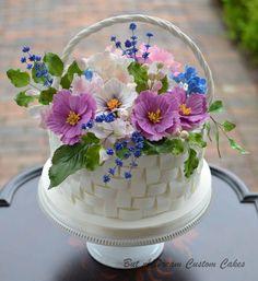 Flower Basket Cake  on Cake Central