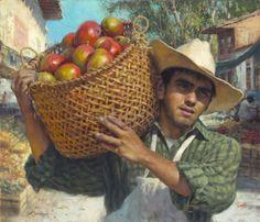 "Scott Tallman Powers ""Daily Harvest"", oil, 24 x 28 in."