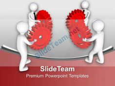 3d Team To Interconnect Gears Industrial PowerPoint Templates PPT Themes And Graphics 0213 #PowerPoint #Templates #Themes #Background