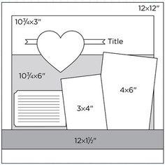 "12 x 12"" Scrapbook Page Sketch 407 - SBE"