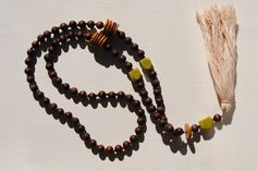 beaded tassel necklace by tasselsbytaylor on Etsy