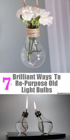 7 Brilliant Ways To Re-Purpose Old Light Bulbs.