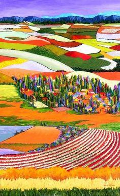Gene Brown Shangri La - Southwest Gallery: Not Just Southwest Art. Abstract Landscape, Landscape Paintings, Abstract Art, Landscapes, Southwest Art, Naive Art, Color Of Life, Kitsch, Modern Art
