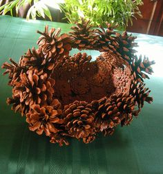 Vintage Pinecone Basket. $30.00, via Etsy.