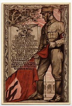 Hoffmann PC 1923/5 of the 1923 Putsch memorial with Blood flag.