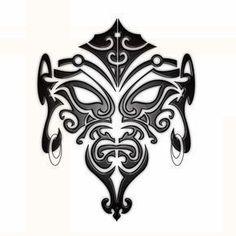 Black Maori Face Tattoo Stencil #maoritattoosface
