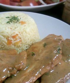 Chicken Fillet with Mustard Sauce & Thyme Greek Recipes, Meat Recipes, Chicken Recipes, Cooking Recipes, Healthy Recipes, Greek Cooking, Easy Cooking, How To Cook Chicken, Food Dishes