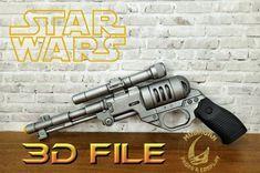3D File - Cosplay Kit - DE-10 Blaster Pistol - Lifesize - Star Wars Best Cosplay, Mandalorian, For Stars, Tmnt, 3d Printer, Battle, Star Wars, Digital, Prints
