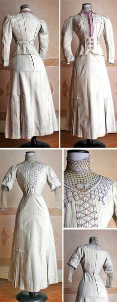 Suit, Doucet, 1907. Wool. Three pieces (bodice, skirt, jacket). Abiti Antichi
