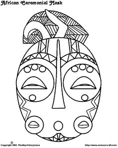 masker African Theme, African Masks, Zentangle, African Art Projects, Crafts To Make, Arts And Crafts, World Crafts, Creative Kids, Face Art