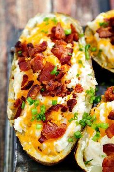 Twice Baked Potatoes Recipe - an oldie but ALWAYS a goodie!! Easy to throw on the barbecue, too. Great for the 4th of July!