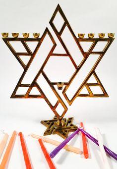 Vintage Star of David Nine Branch Hanukkah Menorah Jewish Menorah, Hanukkah Menorah, Sweet 16 Invitations, Invitation Cards, Party Invitations, Baseball Birthday, Baseball Party, Hanukkah Decorations, Bar Mitzvah Invitations