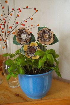 make a fabric bouquet