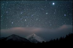 Sirius shines brightly over Rocky Mountain National Park