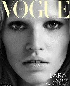 Launching the look: Model Lara Stone has made bleached brows part of her trademark look...