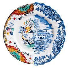 Assiette en porcelaine fine Hybrid Seletti