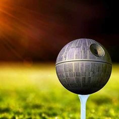 That's no moon...but it isn't a golf ball either... (A treat for our Star Wars fans!) #starwars #golf #TheForeAwakens #nerdhumor