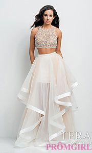 Buy Long Two Piece High Neck Dress by Terani at PromGirl