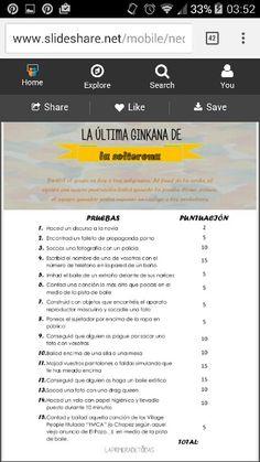 Gymkana prometida. http://laprimeradetodas.blogspot.com.es/2014/02/la-ultima-ginkana-de-la-solterona.html?m=1