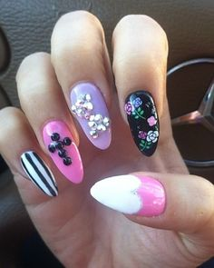 colorful claw nails