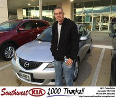 https://flic.kr/p/E4t5Ue | Congratulations Brain on your #Mazda #Mazda3 from JERRY TONUBBEE at Southwest Kia Mesquite! | deliverymaxx.com/DealerReviews.aspx?DealerCode=VNDX