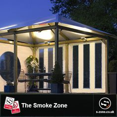 The Provence Pavilions by the Smoke Zone  The 3m x 4m Provence Timber Pavilion is the perfect size for a relaxing smoking area. It can accommodate a twelve seat garden table with ease.  To view more canopies go to: http://www.thesmokezone.co.uk/products/pubs-restaurants/  The S-Zone Group in East Yorkshire, Hull Contact our Sales team on: 01482 481050 Or visit our website on www.s-zone.co.uk