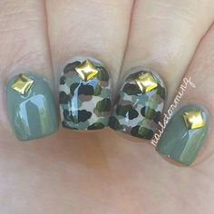 Gel Nail Designs You Should Try Out – Your Beautiful Nails Bright Red Nails, Green Nails, Spring Nail Art, Spring Nails, Nail Art Diy, Diy Nails, Photomontage, Camouflage Nails, Camouflage Wedding