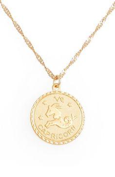 Gold coin bracelet gold bracelet chain bracelet stackable jewelry ascending zodiac medallion necklace capricorn aloadofball Gallery