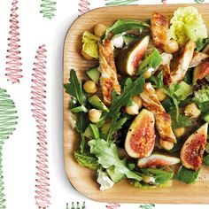 Poached Chicken and Fig Salad