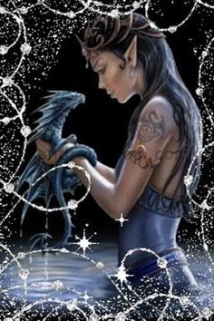 Elf friend and her dragon..very cool..says Thaddeus of www.persephanependrake.com The Persephane Pendrake Chronicles. First Book FREE http://dl.bookfunnel.com/ocnutpdazy