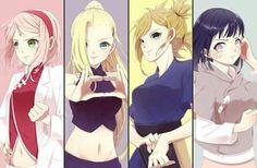 sakura, ino, temari e hinata Naruto Uzumaki, Kakashi Hatake, Naruhina, Anime Naruto, Naruto Comic, Naruto Cute, Naruto Sasuke Sakura, Naruto Girls, Sakura Haruno