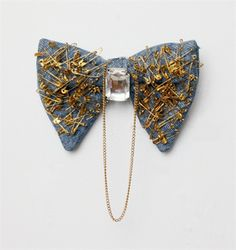Denim Abu Dhabi Bow Tie by Mckenzie Liautaud