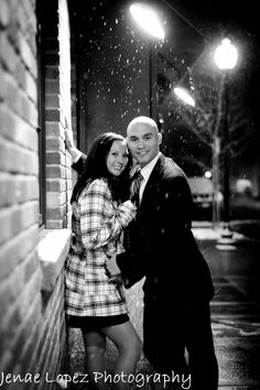 winter engagement photos christmas lights - Google Search