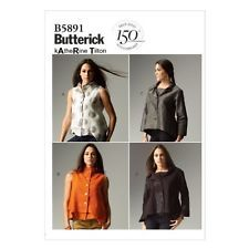 Butterick Patterns B5891 Size F5 16/ 18/ 20/ 22/ 24 Misses' Top, White