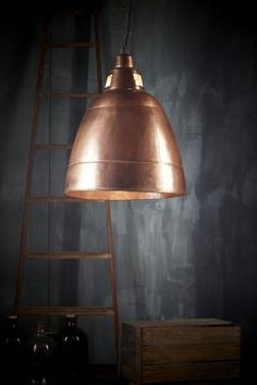 lamp in copper